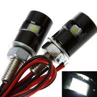 Wholesale LED Motorcycle Car License Plate Light Lamp Bulb Led Screw Bolt Light Lamp Pair Vehicle Car Light Source