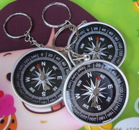 american key supply - Creative puzzle toy compass key chain north arrow pointer American travel supplies gifts Factory directly sales