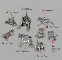 dog charms - Hot Antique Silver Zinc Alloy Mix Dog charm pendants style za36