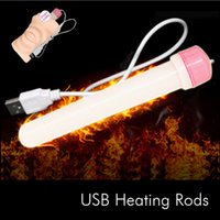 Wholesale New USB Hole Warmer Heater Applicable Masturbate Sex Toys heating rods Male masturbation partner heat up the doll cc1013