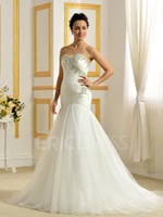 Wholesale NWD123 fashionable of bride beading crystal fish tail mermaid wedding dress fish tail plus size custom made bridal gown dresses