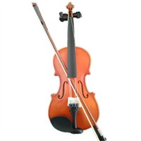 Wholesale Student Acoustic Violin Full Maple Spruce with Case Bow Rosin Wood Color for Beginners