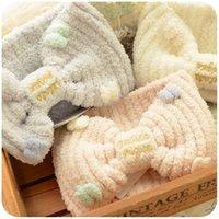 Wholesale Japanese cute Bow Headband Set Korean cosmetic mask wash towel wash Baotou sports band width