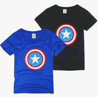 Wholesale 3 colors Boys Summer T Shirt newest cartoon children short sleeve cotton Captain America t shirt boy tee shirts