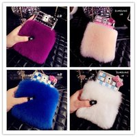 rabbits for sale - Hot Sale Rabbit Fur Case Cover For SUMSUNG S5 S4 S3 Note3 Hight Quality Rhinestone Phone Case Can Choose Colors B