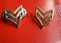 america title - Metal badges beauty gold silver collar collar America Sergeant title of