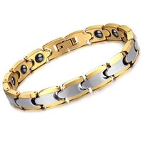 Wholesale Tungsten Carbide Bracelets Unisex Chain Tungsten Steel Energy Magnetic Jewellery