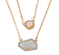 green jade - Newest Kendra Scott Women Elisa Necklace Gold Honeystone Natural Stone Pendant Necklace For Women Jade Jewelry