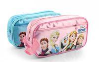 Wholesale New Style Anna Elsa School Pencil Bag Case Cartoon Double Zipper School Pencil Case Ice And Snow Adventure Double Box For Pens