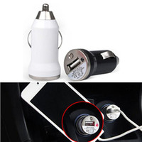 USB Micro-USB  DC24V Promotion Universal Bullet Mini USB Car Charger Universal Adapter quality hot selling black white PM00157