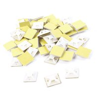 adhesive cable ties - x20mm x25mm Square Shape Plastic Self Adhesive Cable Tie Mount Base