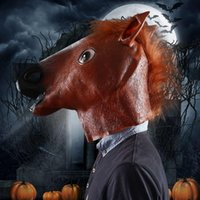 funny head - Halloween Costume Prop Funny Horse Head Mask For Halloween Masquerade Party Decorations Cosplay Mask Costume Halloween Mask