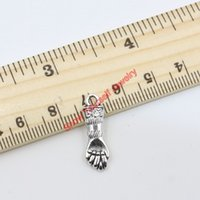 arm craft - 20pcs Antique Silver Plated Hand Arm Charm Pendant for Jewelry Making DIY Handmade Craft x8mm B420 Jewelry making DIY