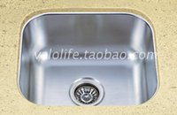 Wholesale Pure stainless steel one piece sink Single bowl kitchen sinks rounded audience poon choi MM thick