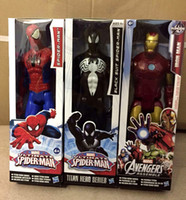 avenger accessories - New cm Marvel Heros Wolverine Captain America Ironman Spider Man The First Avenger PVC Action Figure styles can choose