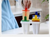 Ice Cream Makers Plastic Stocked 2016 Cool Summer Ice Cream Sticks Mold Frozen Ice Cream Pop Mold Popsicle Maker Lolly Mould