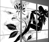 nude women - handpainted piece modern abstract decorative oil painting on canvas wall art nude woman body for living room as unique gift
