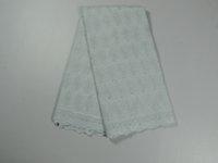 100 cotton fabric - High quality Swiss yarn lace cotton lace fabric CLZ08 yard pc White