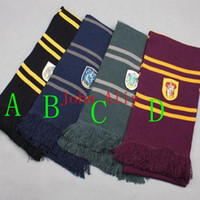 Wholesale 4 Colo urs Harry Potter Scarves Ravenclaw Scarf Accessories Gryffindor Scarf Magic School Slytherin Scarves Perfect Gift
