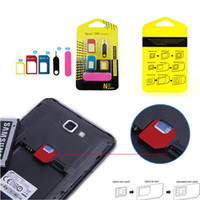 Wholesale New Arrivals Cell Phone Accessories SIM Card Micro Standard Adapter Converter in Set For iPhone S JH20