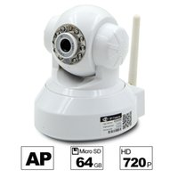 ptz wifi wireless ip camera - Indoor WIFI IP Camera HD720P PTZ CMOS G SD Card M PixelS IR Cut Night Vision Video Capture AP Model IP Surveillance Camera