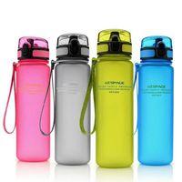 Plastic Tritan Sports Bouteilles d'eau Cup Beverage Drinks Scrub For Camping Randonnée Running 500ML Enfants Enfants Étudiant BPA Gratuit