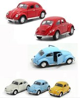 antique pull toys - Special offer toy Retro jacket insects Antique classic cars alloy pull back model car Diecast Metal