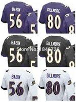 baltimore factories - Factory Outlet Baltimore Jason Babin Crockett Gillmore Men Elite White Black Purple Football Jerseys Embroidery logos Size M XL