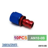 Wholesale TANSKY High Quality AN AN10 Push On Fuel Hose End Car Fittings to Barb Adaptor Straight AN10 B