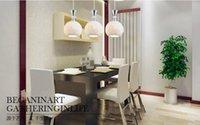 Cheap Modern minimalist best-selling restaurant LED lights creative ceramic chandelier restaurant square the living room chandelier