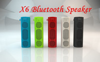 3 audio options - X6 Bluetooth Wireless Portable Speaker X6 sport outdoor bluetooth speaker multi colored radio function options for iPhone iPod iPad Samsung