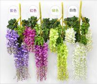 Wholesale Wisteria Wedding Decor cm cm colors Artificial Decorative Flowers Garlands for Party Wedding Home DHL Free ship