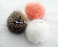 Wholesale DIY fur balls rabbit fur pompoms cm for hairpin clothing Beanies hats caps shoes real fur pom poms