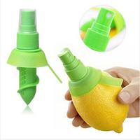 Wholesale ABS plastic Rubber Citrus Sprayer Fruit Lemon Lime Orange Mist Sprinkling Extractor Juice Spritzer Kitchen Tool squeezer