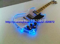 Wholesale Custom Shop Crystal glass acrylic sg Electric Guitar LED lamp Guitars Guitar Factory from china