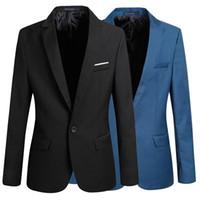 Wholesale Fashion Stylish Men s Casual Slim Fit One Button Suit Blazer Coat Jacket Tops