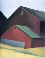 One Panel barn homes - Georgia OKeeffe Paintings for sale Ends Of Barns Modern Art Home Decor High Quality Handmade