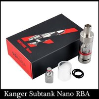 Wholesale Kanger Subtank Nano RBA tank ml atomizer Replacement occ coils vs Subtank plus Subtank mini fit kbox w box mod vs Arctic clone