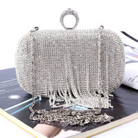 Wholesale Factory Retaill brand new handmade unique diamond evening bag clutch with satin PU for wedding banquet party porm more colors
