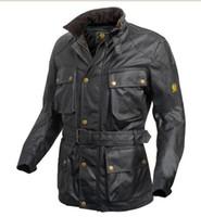 Precio de Chaquetas de los hombres de cera-La chaqueta impermeable de la caída-manera hombres trialmaster leyó la chaqueta encerada i es la leyenda roadmaster enceró la chaqueta de algodón G2