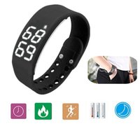Wholesale USB Wristband Pedometer Smart Sports Bracelet LED Healthy Silicone Bracelet Calories Sleep Monitor Christmas Gift Watch