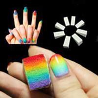 Wholesale 8pcs New Woman Salon Nail Sponges for Acrylic Makeup Manicure Nail Art Accessory