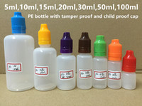 Wholesale 10ml ml ml ml ml ml PE Dropper Bottle E Juice Bottle With Tamper Evident Child Proof Cap Long Thin Tip Fast Shipping