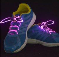 Wholesale Lighting Flash Light Up Sports Skating LED Shoe Laces Shoelaces Shoestrings Cool colorful led shoelances