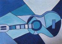 art cubism - Pablo Picasso Art Blue Guitar cubism painting quot X quot no Frameless draw