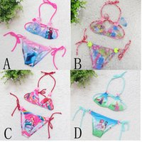 baby swimwear sale - Hot Sale Princess Elsa Anna Snow White Baby Girls Bikini Set Children Swimwear Swimsuit Bathing Suit Beach Wear C001