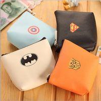 batman party supplies - 4 Style Boy Captain America Batman PU wallet new Super hero party supplies Kids bag B001