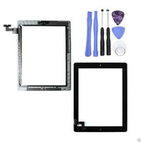 Wholesale 10pcs For iPad Front Panel Touch Screen Glass Digitizer Assembly Replacement with Home Button Adhesive Sticker With Repair Tool