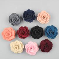 Wholesale 10 colors felt flower pins men s suit lapel pins you could mix different designs flower pins in one order