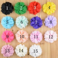 baby accessories list - Mix colors CM new listing quality DIY Chiffon headdress flower children hair ornaments shoe flower baby girl hair accessories